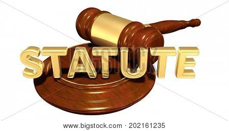 Statute Legal Concept 3D Illustration