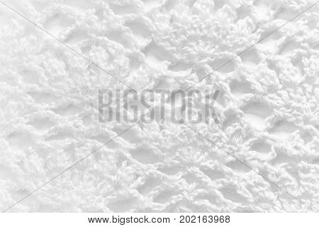 White Handmade Lace Tablecloth Texture On White Background
