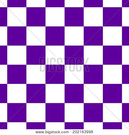 Chessboard or checker board seamless pattern in blue and white. Checkered board for chess or checkers game. Strategy game concept. Checkerboard background.