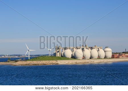 The Boston Water Treatment Plant and Windmills