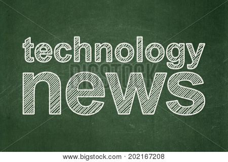 News concept: text Technology News on Green chalkboard background