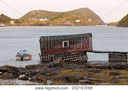 Old Fishing Shack In Newfoundland Nl Canada