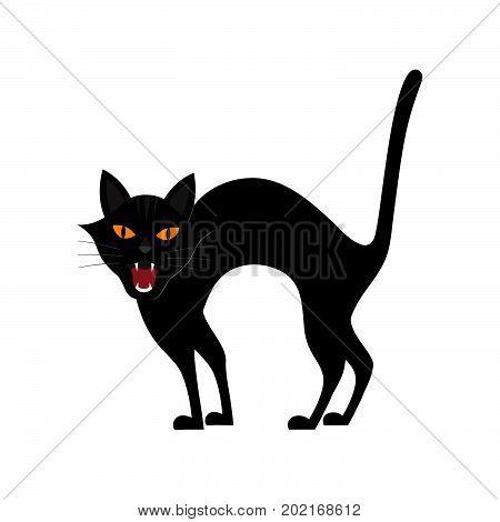 Halloween Growl Black Cat