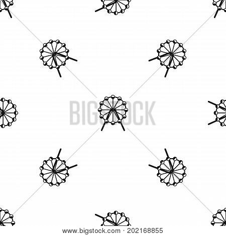 Singapore Flyer, tallest wheel in the world pattern repeat seamless in black color for any design. Vector geometric illustration