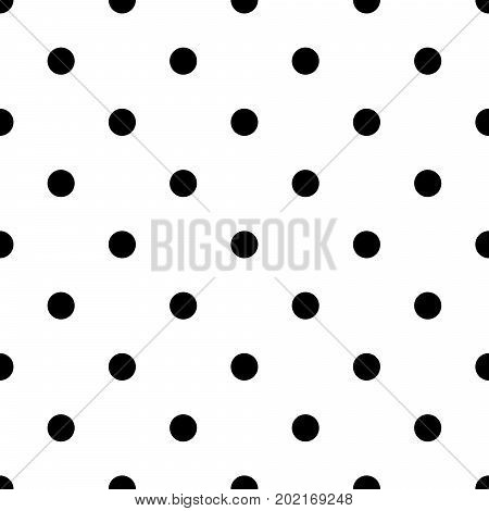 Polka dot bold vector seamless pattern. Simple dotted tile background in black and white.