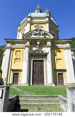 The Historic Church Of Santa Croce At Riva San Vitale