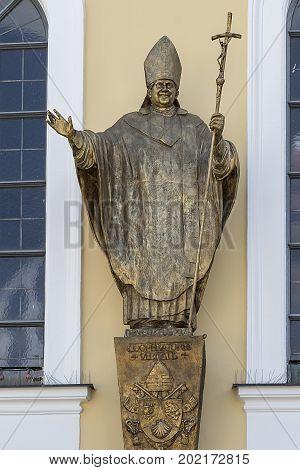 Pope John Ii Bronze Statue