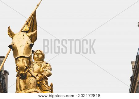 Statue of Joan of Arc in Paris France