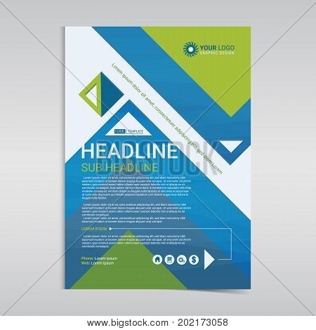 Multipurpose business flyer layout design with geometric background. Business design layout template Modern Backgrounds. Vector illustration.