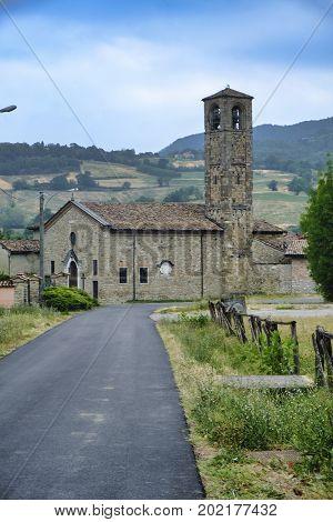 Biagasco or Groppo (Alessandria Piedmont Italy): the medieval church of Santa Maria