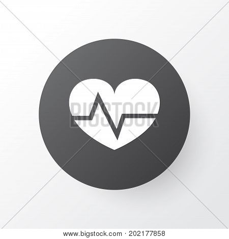 Premium Quality Isolated Beating Element In Trendy Style.  Heartbeat Icon Symbol.