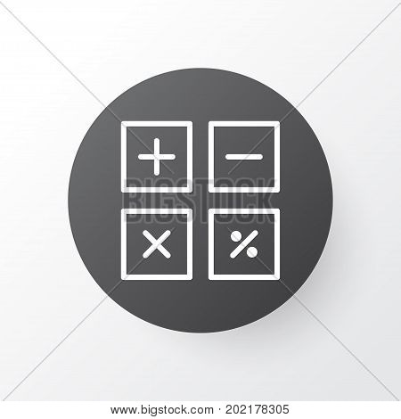 Premium Quality Isolated Calculation Tool Element In Trendy Style.  Calculate Icon Symbol.