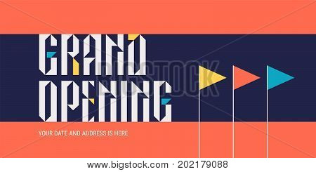 Grand opening vector illustration, background for new store. Template design element for opening event can be used as banner