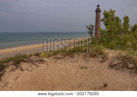 Little Sable Lighthouse - A lighthouse along Lake Michigan.