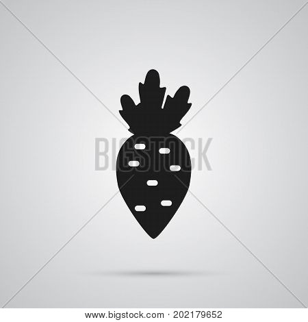 Vector Radish Element In Trendy Style.  Isolated Beet Icon Symbol On Clean Background.