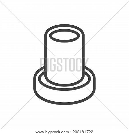 Vector Pencil Element In Trendy Style.  Isolated Stand Outline Symbol On Clean Background.