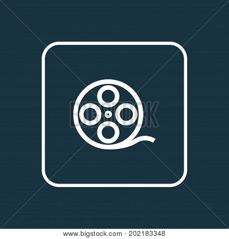 Premium Quality Isolated Filmstrip Element In Trendy Style.  Film Reel Outline Symbol.