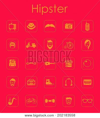 It is a set of hipster simple web icons