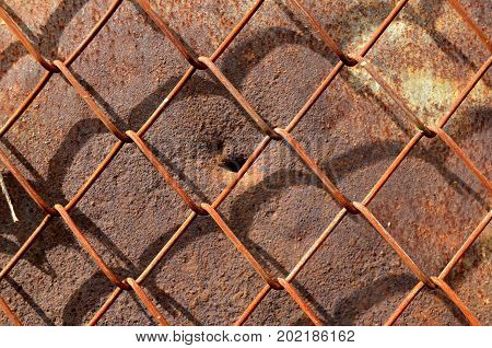 rust on old wall background ,Metal rust Texture, Decay metal Background,Rusty metal background with streaks of rust. Rust stains.