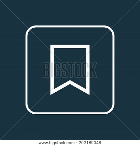 Premium Quality Isolated Flag Element In Trendy Style.  Bookmark Outline Symbol.