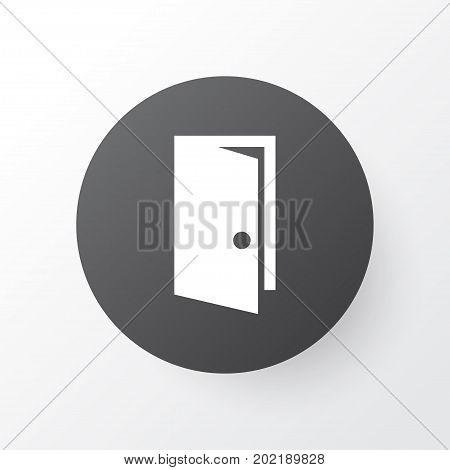 Premium Quality Isolated Entrance Element In Trendy Style.  Door Icon Symbol.