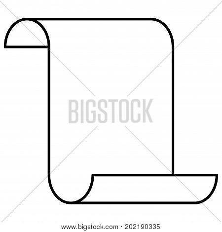 sheet continuously sketch silhouette in white background vector illustration