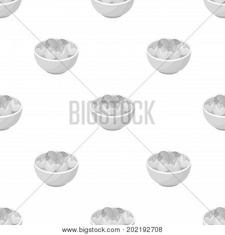 A plate of salad greens.The dark Belgian wolf. Belgium single icon in monochrome style vector symbol stock web illustration.