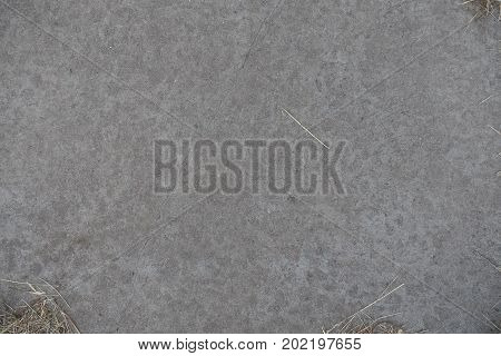 View Of Grey Concrete Slab From Above