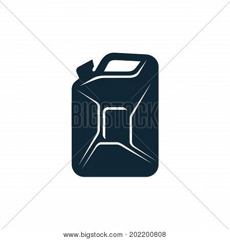 vector oil fuel canister simple flat icon pictogram isolated on a white background. Gas oil fuel, energy power petroleum industry symbol, sign