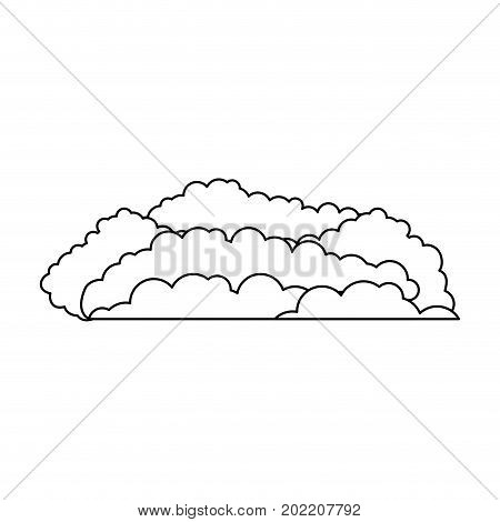 cloud cumulus monochrome in white background vector illustration