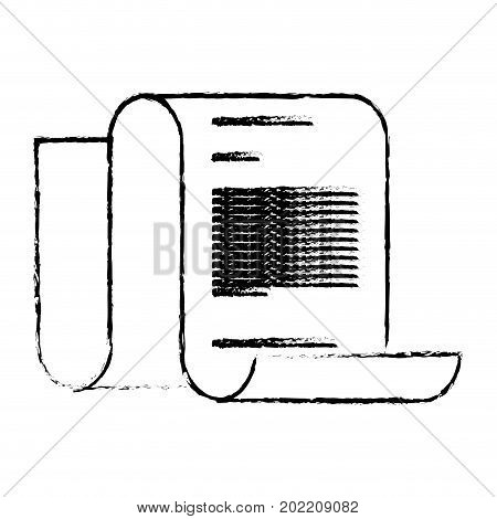 monochrome blurred continuously sheet contract document vector illustration