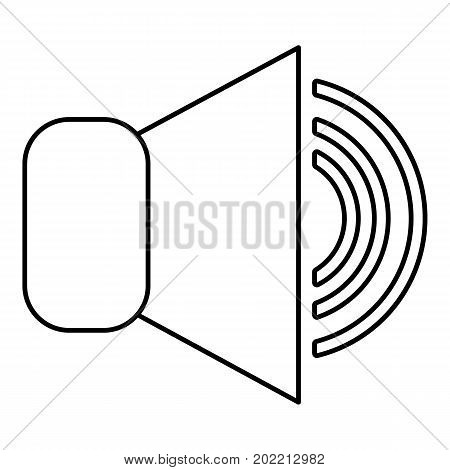 Volume up icon. Outline illustration of volume up vector icon for web design isolated on white background
