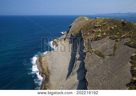 Cantabria, View From The Ligthouse Faro De Cabo Major