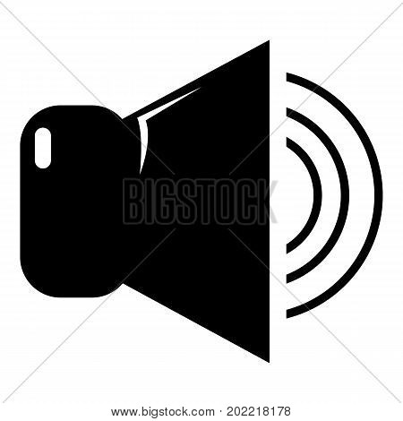 Volume up icon . Simple illustration of volume up vector icon for web design isolated on white background