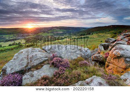 Sunset From Baslow Edge