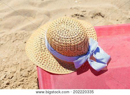 Straw Hat On The Deckchair