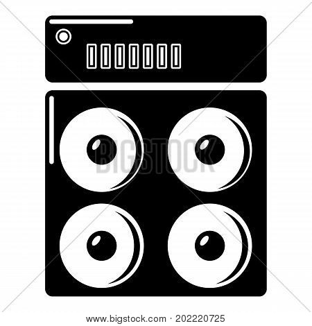 Speaker box icon . Simple illustration of speaker box vector icon for web design isolated on white background