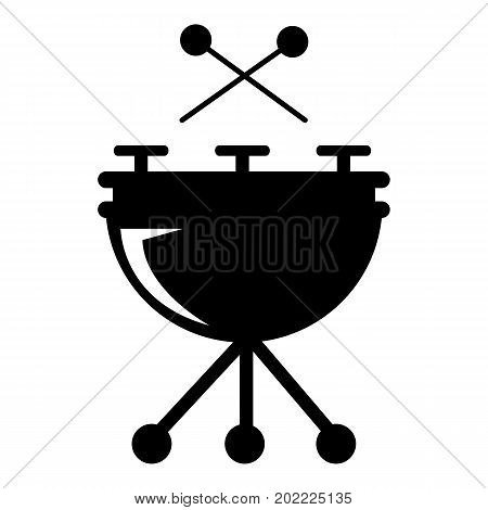 Drums icon . Simple illustration of drums vector icon for web design isolated on white background