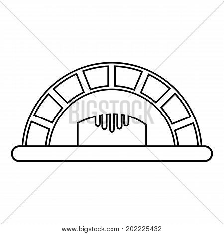 Bread oven icon. Outline illustration of bread oven vector icon for web design isolated on white background