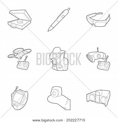 Fbi icons set. Outline set of 9 fbi vector icons for web isolated on white background