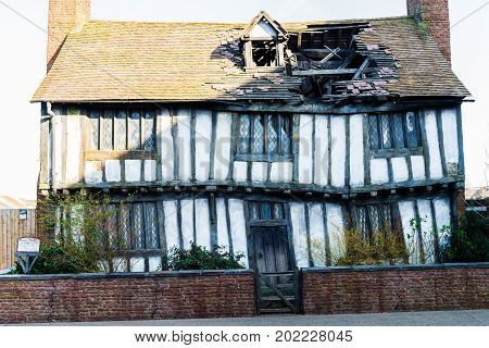 The Set Of Potters Cottage In Godrics Hollow, Leavesden, Uk