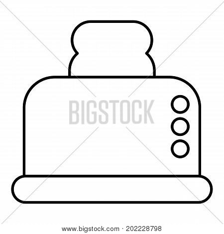 Steal toaster icon. Outline illustration of steal toaster vector icon for web design isolated on white background