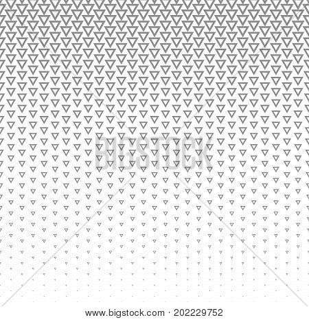 Vector halftone abstract background, grey white texture gradient gradation. Geometric mosaic triangle shapes monochrome pattern. Simple backdrop design.