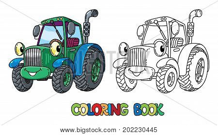Tractor Coloring Book Vector & Photo (Free Trial) | Bigstock