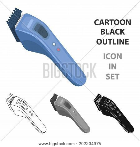Electric hair clipper.Barbershop single icon in cartoon style vector symbol stock illustration .
