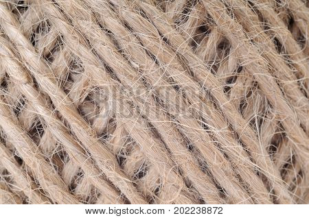 Jute thread in clew close up picture