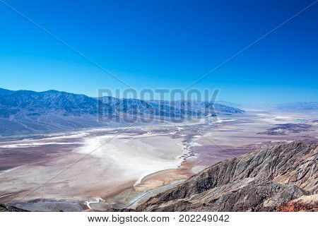 Death Valley landscape as seen from the top of Dantes View