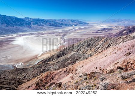 View from Dantes View in Death Valley National Park in California