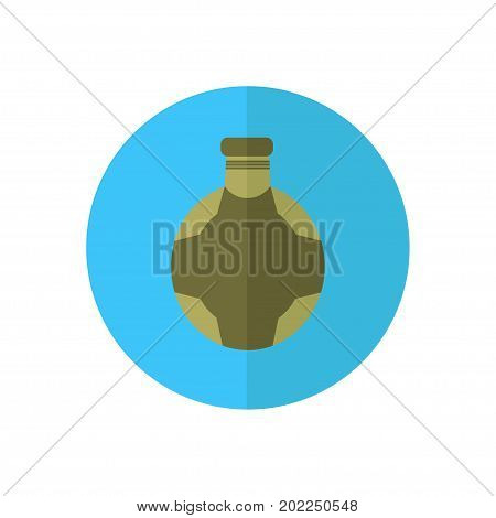 Hunting Equipment And Gear For Hunt. Vector Flask Icon Collectio