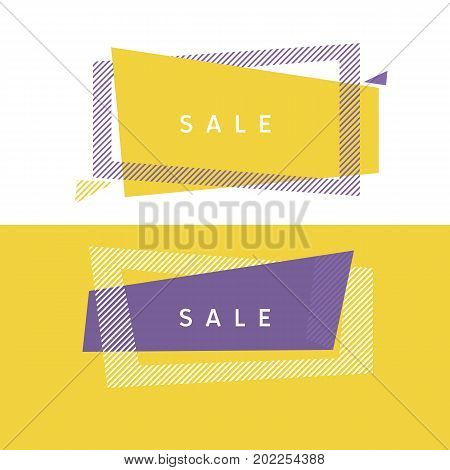 abstract simple geometry header with stripe pattern in frame shape. modern decorative design element for web and print design.